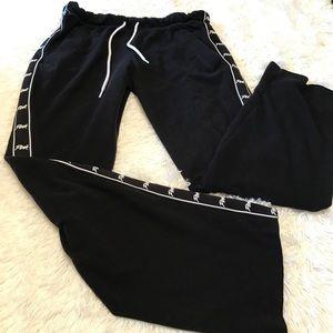 """""""PINK"""" Victoria Secret Black Sweatpants Small"""